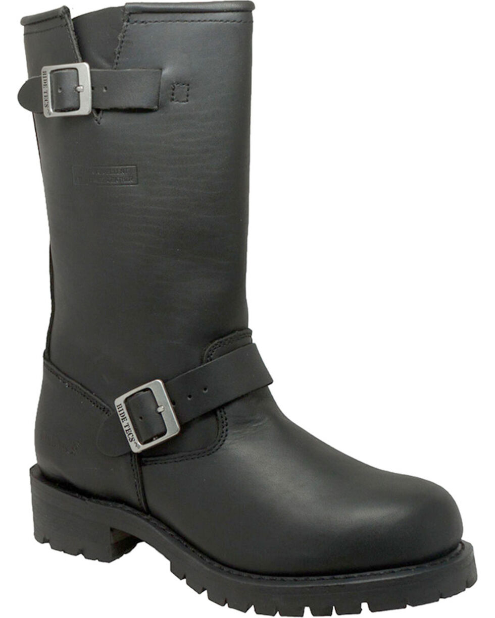 "Ad Tec Men's Heavy Duty 13"" Engineer Boots - Round Toe, Black, hi-res"