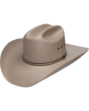 Stetson Men's 10X Warrior Straw Cowboy Hat, Taupe, hi-res