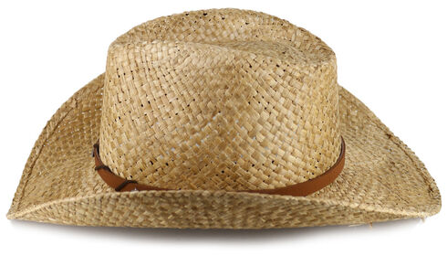 Cody James Embellished Leather Cord Straw Hat, Teal, hi-res