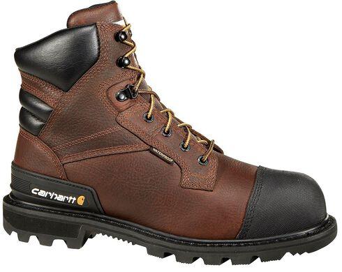 "Carhartt 6"" Brown CSA Work Boot - Safety Toe, Brown, hi-res"