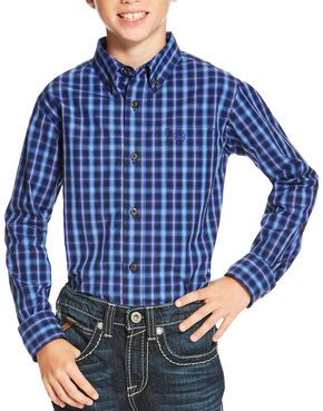 Ariat Boys' Multi Owensville Long Sleeve Shirt , Multi, hi-res