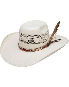 Resistol Men's Natural Young Guns Bangora Straw Cowboy hat , Natural, hi-res