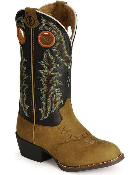 Tony Lama Children's Tiny Lama 3R Cowboy Boots - Round Toe, Crazyhorse, hi-res
