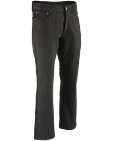 "Milwaukee Leather Men's Black 34"" Aramid Infused 5 Pocket Loose Fit Jeans - XBig, Black, hi-res"