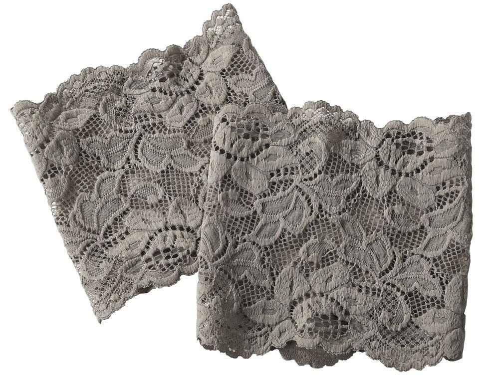 Shyanne Women's Grey Lace Stretch Boot Cuffs, Grey, hi-res
