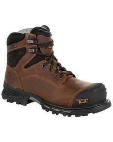 Georgia Boot Men's Rumbler Waterproof Work Boots - Soft Toe, Black/brown, hi-res