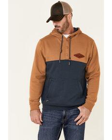 Kimes Ranch Men's Ogden Color-Block Hooded Sweatshirt , Brown, hi-res