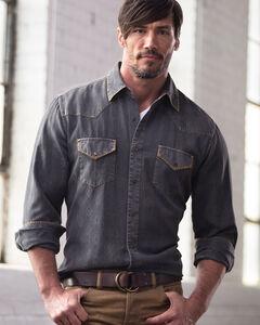 Ryan Michael Men's Aztec Silk Jacquard Shirt, Brown, hi-res