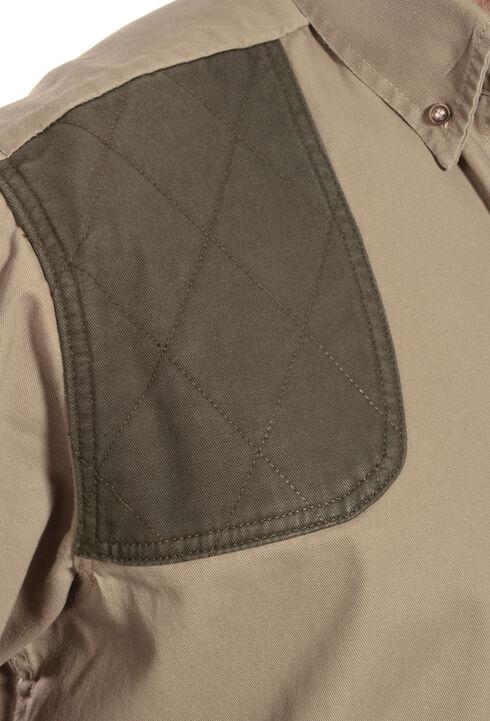 Gibson Trading Co. Men's Long Sleeve Shooting Shirt, Khaki, hi-res