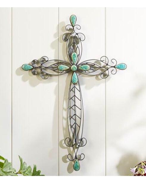 Gift Craft Sculpted Iron Wall Cross , No Color, hi-res