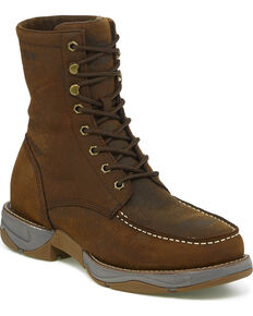 "Tony Lama Men's Junction Sierra 8"" Lacer Waterproof Work Boots - Steel Toe, Brown, hi-res"