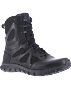 "Reebok Women's 8"" Sublite Cushion Tactical Boots, Black, hi-res"