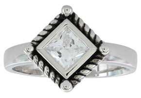 Montana Silversmiths Women's Roped Star Light Ring, Silver, hi-res