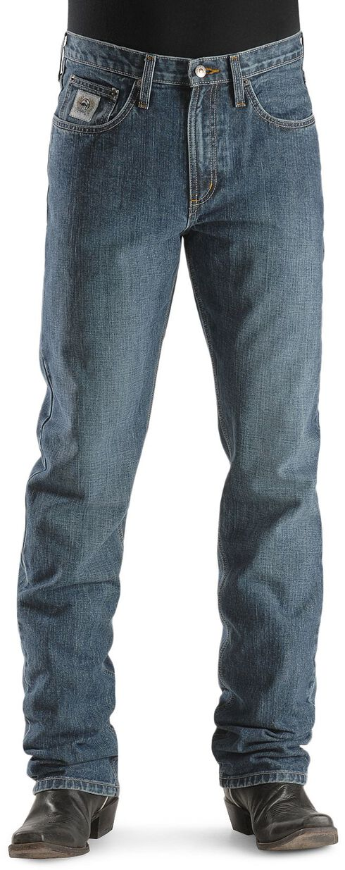 Cinch Silver Label Straight Leg Jeans, Indigo, hi-res
