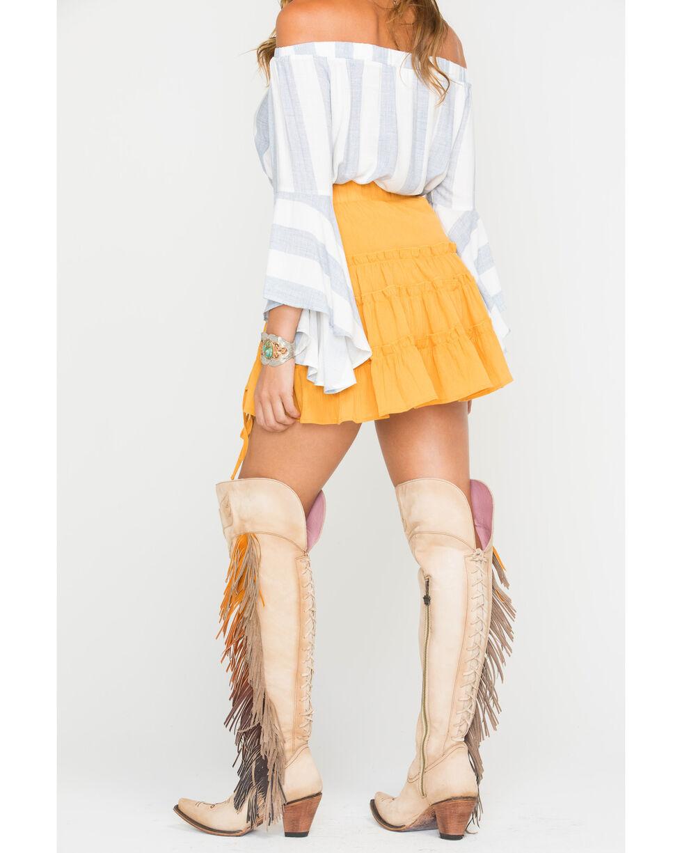 Sage the Label Women's Yellow Rio Skirt , Yellow, hi-res