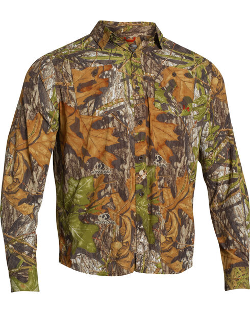 Under Armour Chesapeake Camo Long Sleeve Shirt, Mossy Oak, hi-res
