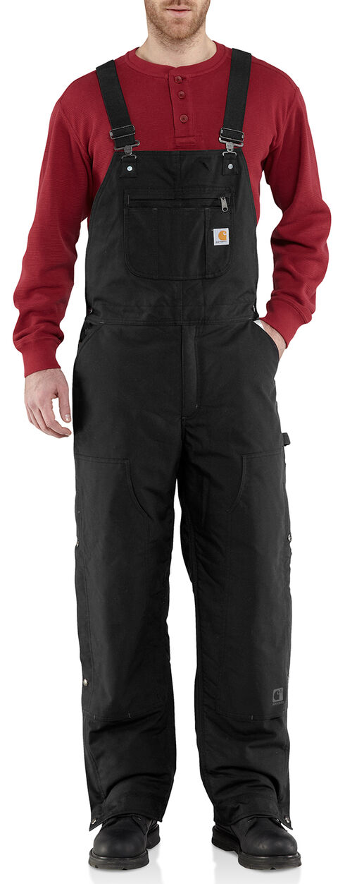 Carhartt Men's Quick Duck Jefferson Bib Overalls - Big & Tall, Black, hi-res