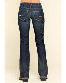Ariat Women's Rebar Mid Rise Durastretch Riveter Work Bootcut Jeans, Blue, hi-res