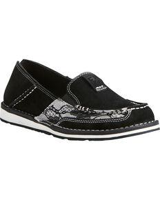 Ariat Women's Black Lace Cruiser Shoes - Moc Toe, Black, hi-res