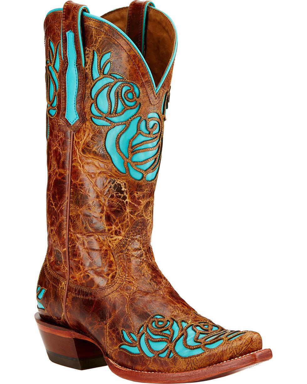 Ariat Dusty Rose Riding Boots - Snip Toe , Saddle Tan, hi-res
