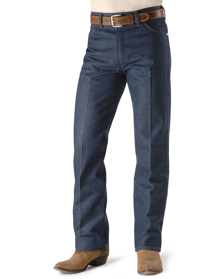 "Wrangler 13MWZ Cowboy Cut Rigid Original Fit Jeans - 38"" & 40"" Tall Inseams, Indigo, hi-res"