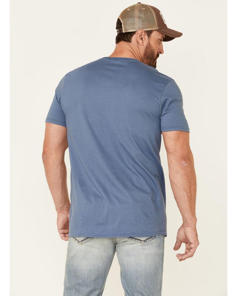 Moonshine Spirit Men's Navy Strummin Under Stars Graphic Short Sleeve T-Shirt , Navy, hi-res