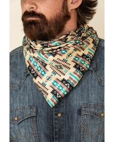 Austin Accent Men's Silk Southwest Bandana, Tan, hi-res