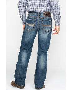 Rock & Roll Cowboy Men's Multi Thread Reflex Relaxed Straight Jeans  , Indigo, hi-res