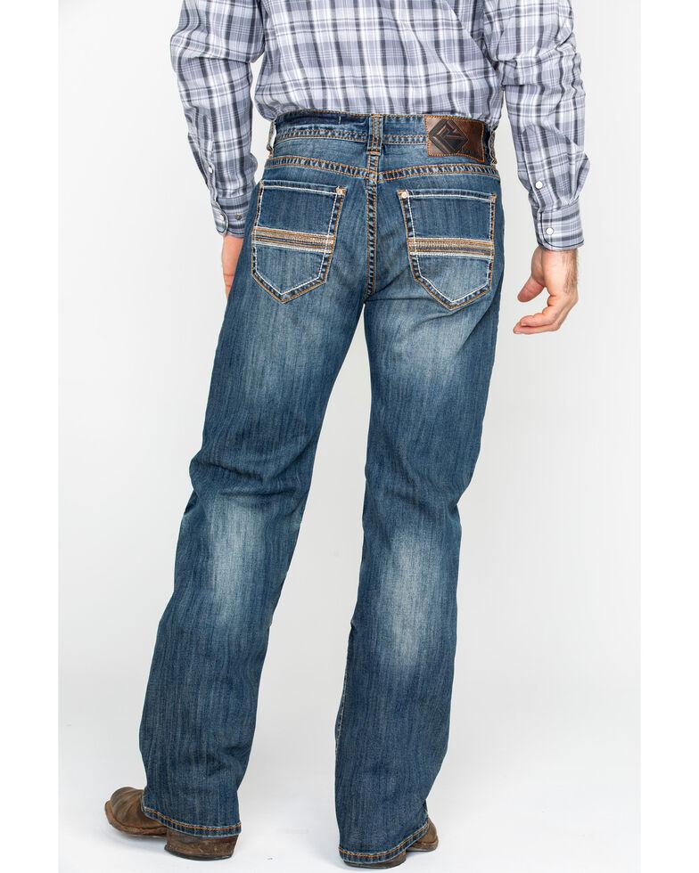 Rock & Roll Cowboy Men's Multi Thread Reflex Relaxed Straight Jeans  , Indigo, hi-res