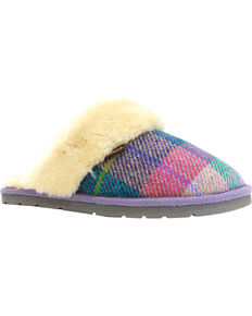 Lamo Footwear Women's Wembley Scuff Slippers , Purple, hi-res
