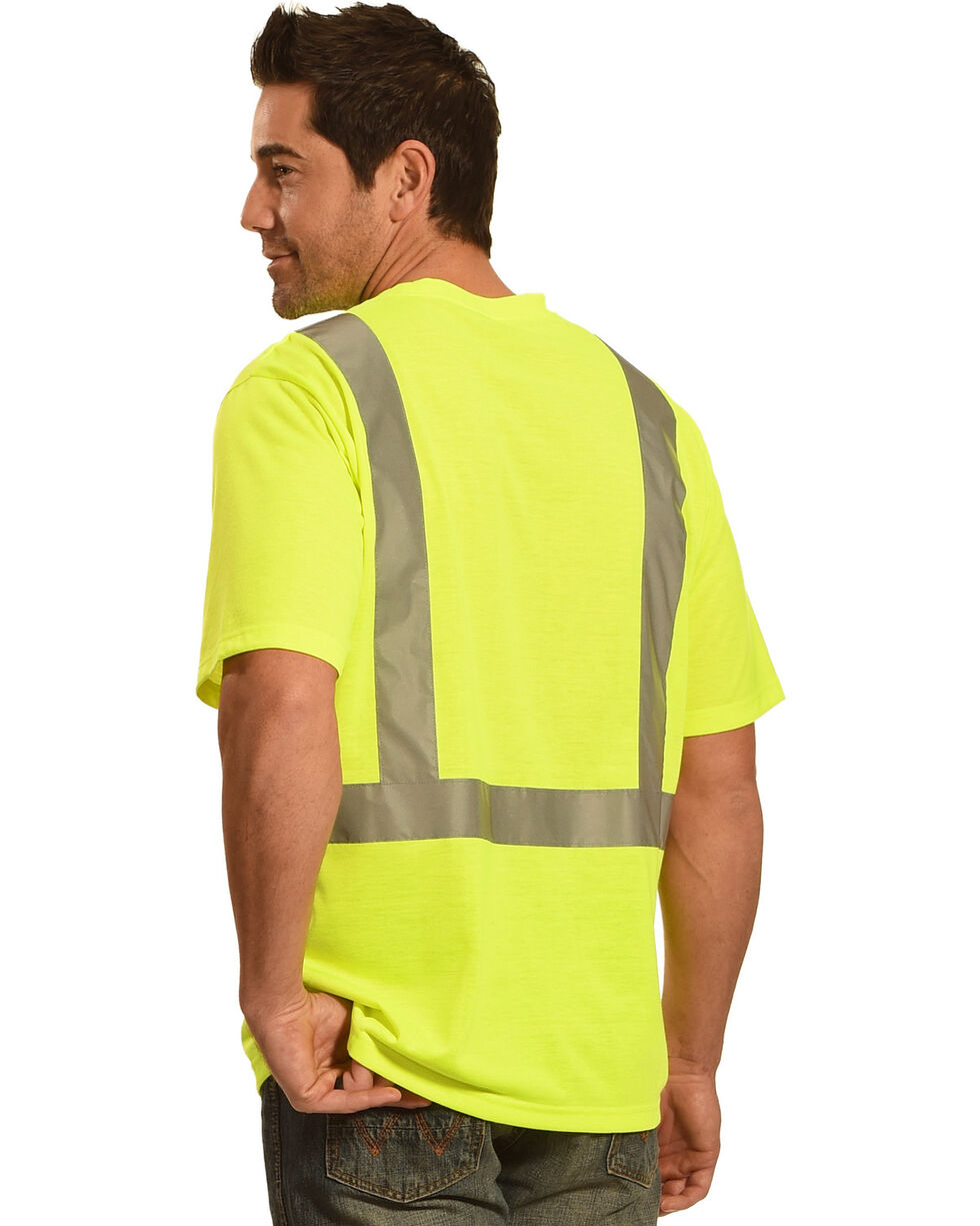 American Worker Men's Short Sleeve High Visibility T-Shirt Big and Tall, Yellow, hi-res