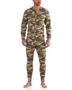 Carhartt Men's Camo Midweight Cotton Union Suit , Camouflage, hi-res