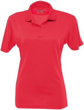 Tru-Spec Women's 24-7 Short Sleeve Performance Polo Shirt - Extra Large Sizes, Red, hi-res