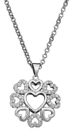 Montana Silversmiths Multi-Heart Necklace, Silver, hi-res