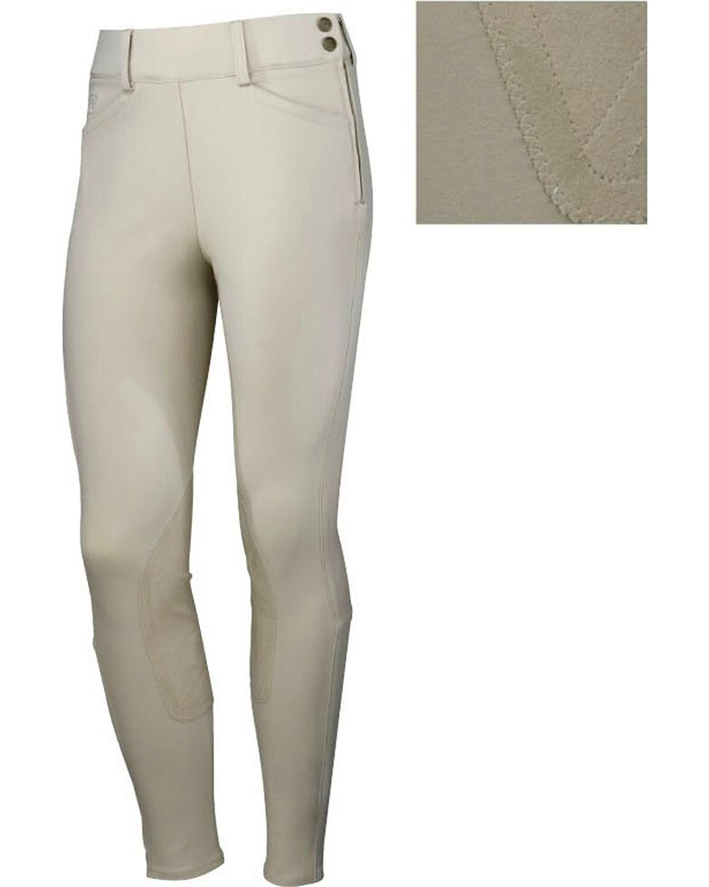 Ariat Olympia Side Zip Riding Breeches, Beige, hi-res