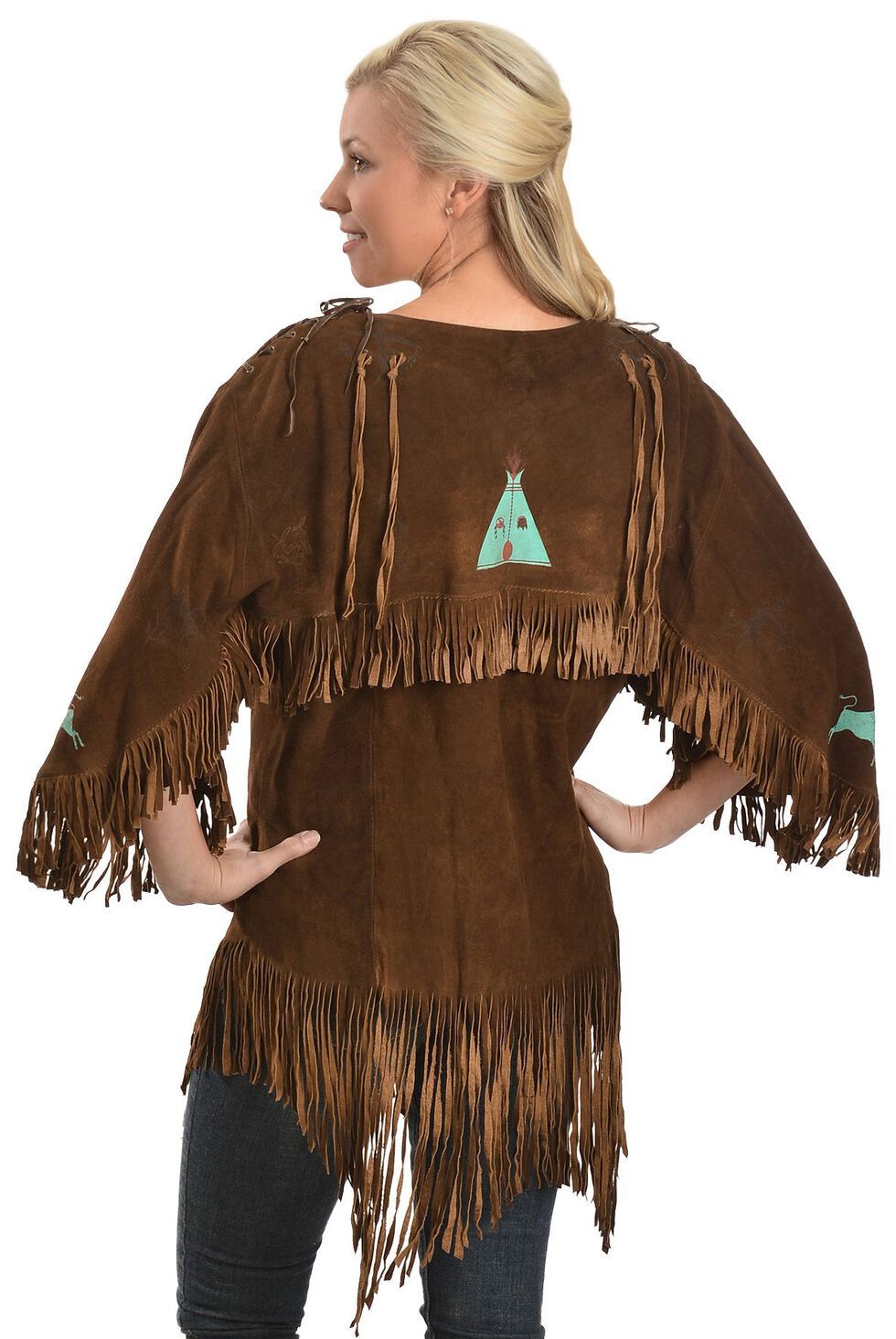 Kobler Leather Picachu Fringe Shirt, Acorn, hi-res