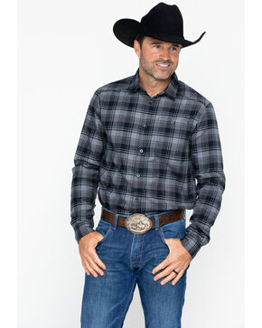 Under Armour Men's Tradesman Flannel Shirt, Black, hi-res