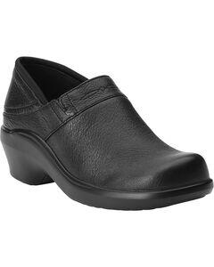 Ariat Women's Santa Cruz Leather Clogs, Black, hi-res