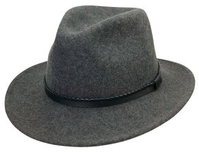 a6e6d624d04 Black Creek Mens Grey Heathered Crushable Wool Hat