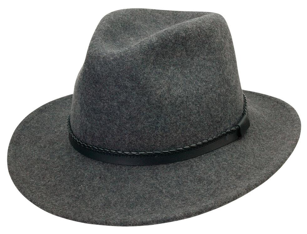 Black Creek Men's Grey Heathered Crushable Wool Hat, Grey, hi-res