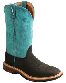 Twisted X Women's Lite Western Work Boots - Alloy Toe, Charcoal, hi-res