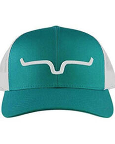 Kimes Ranch Teal Weekly Trucker Twill Front Mesh Ball Cap , Teal, hi-res