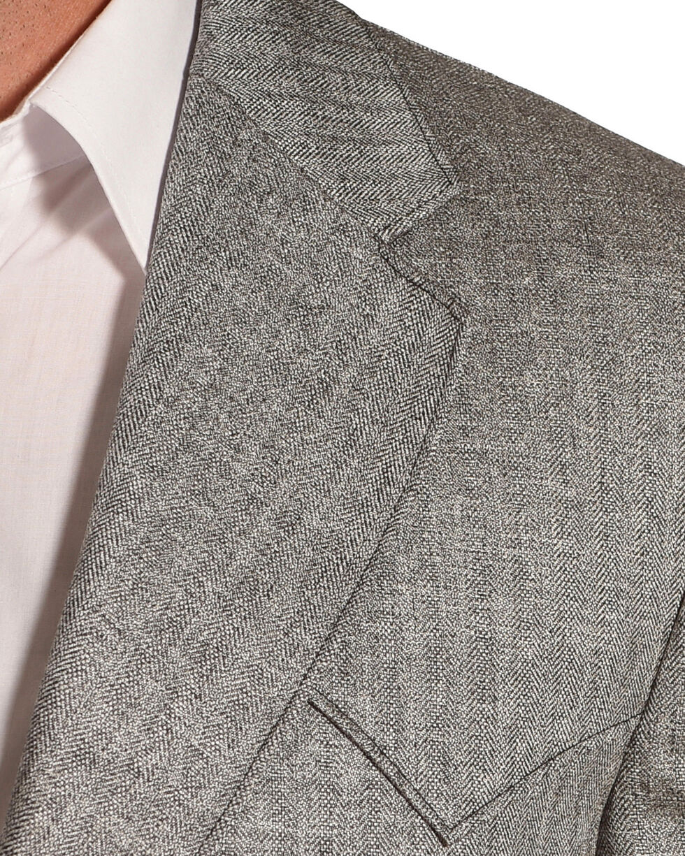 Circle S Men's Grey Herringbone Lubbock Sport Coat - Tall, Grey, hi-res