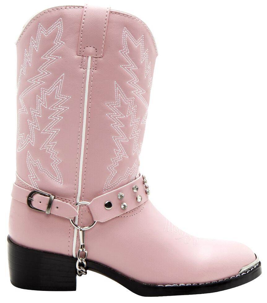 Durango Girls' Pink Cowgirl Boots, Pink, hi-res