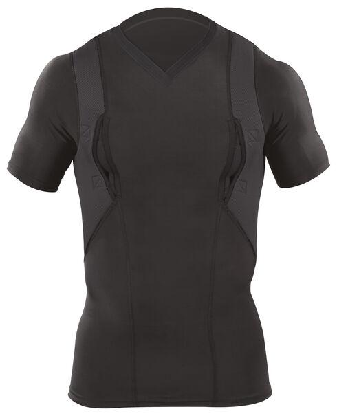 5.11 Tactical V-Neck Holster Shirt, Black, hi-res