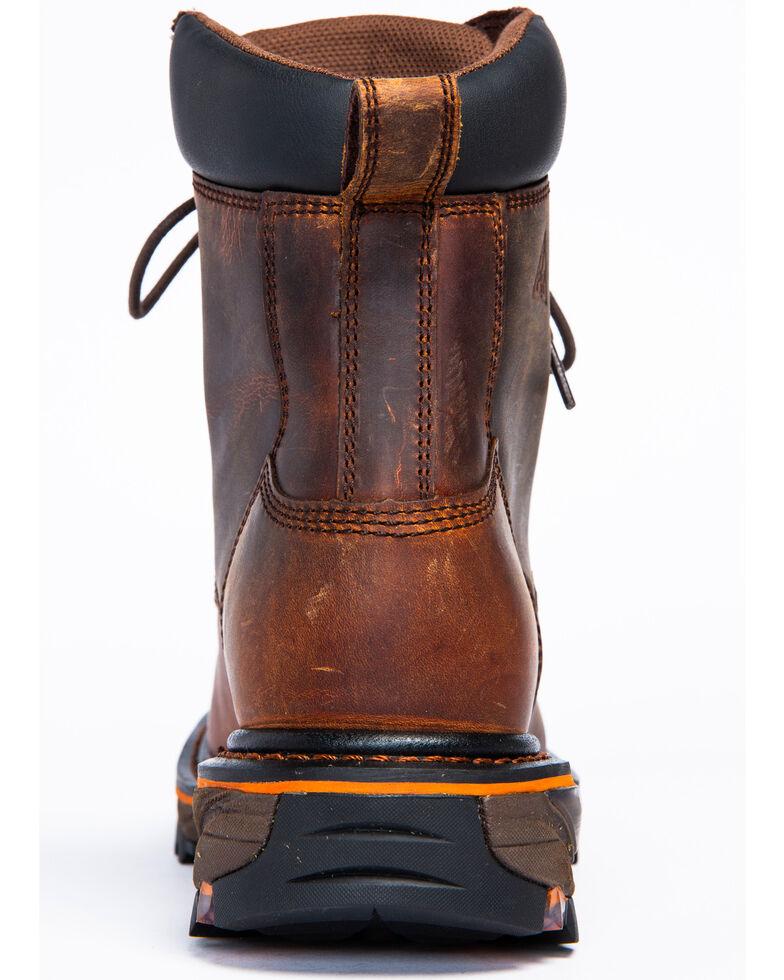 Cody James Men's Decimator Lace Kiltie Work Boots - Wide Square Toe, Brown, hi-res