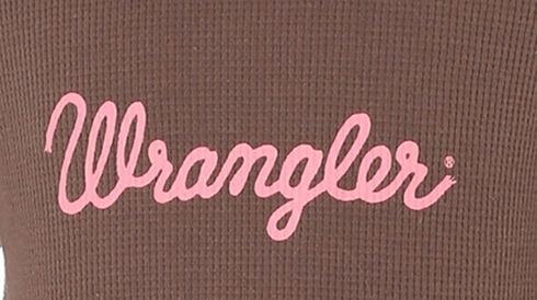 Wrangler Girls' Hoodie with Wrangler Logo, Brown, hi-res