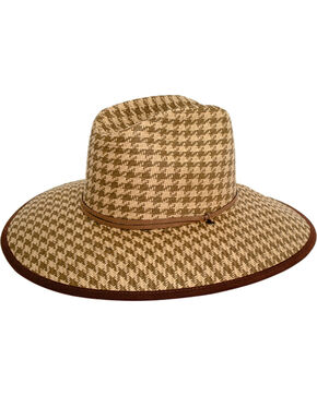 Peter Grimm Women's Brown Oahu Straw Hat , Brown, hi-res