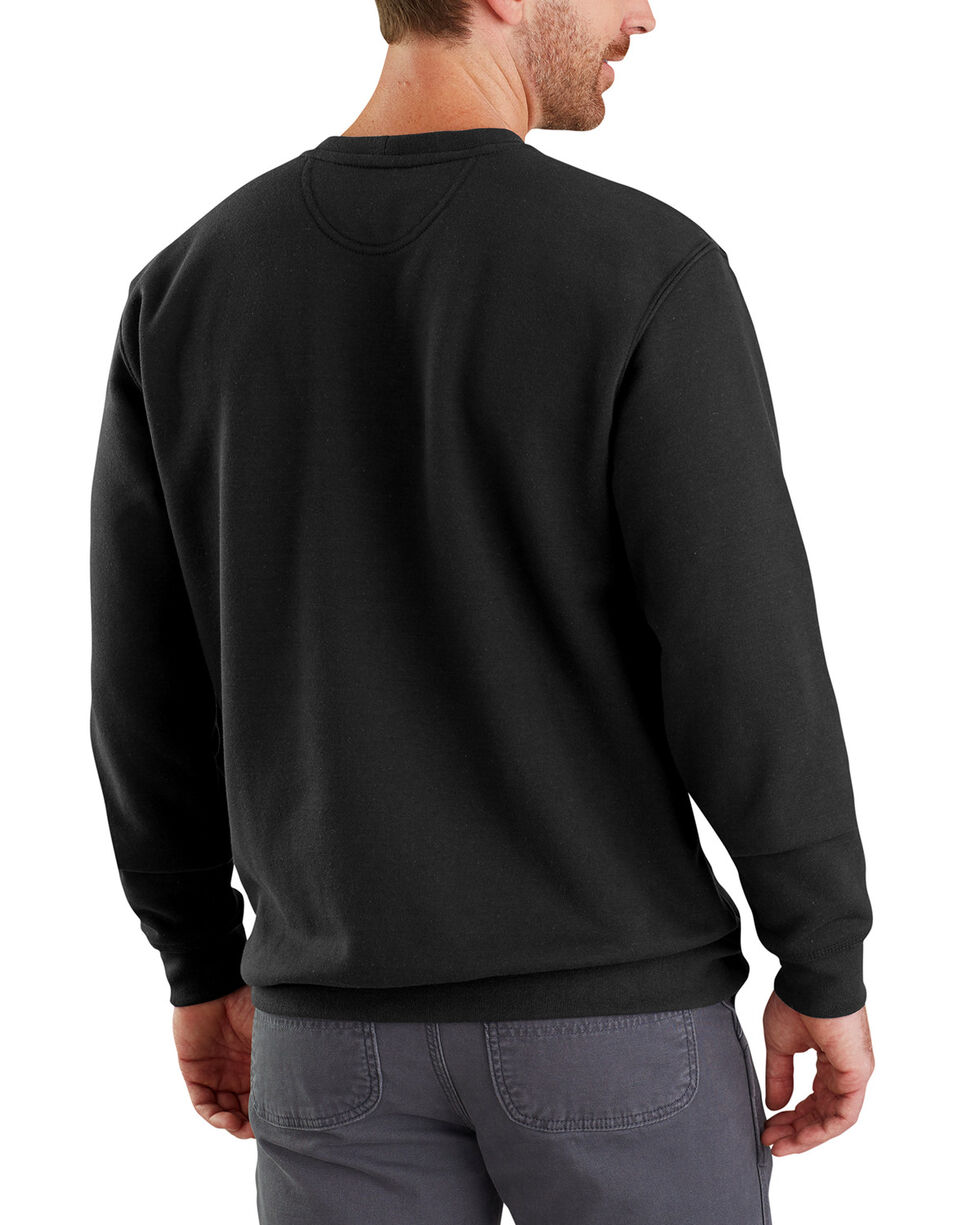 Carhartt Men's Midweight Graphic Crewneck Sweatshirt - Big , Black, hi-res