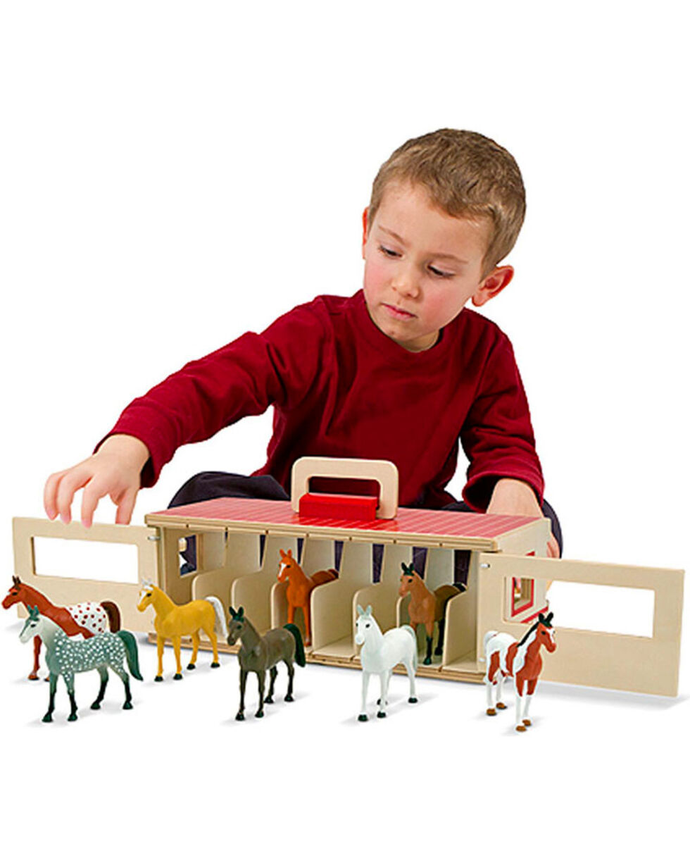 Melissa & Doug Kids' Take-Along Show-Horse Stable Play Set, No Color, hi-res
